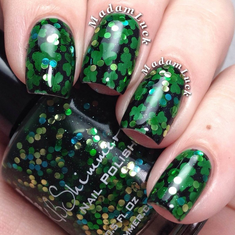 St. Patrick\'s Day Nail Art By MadamLuck - KBShimmer Blog