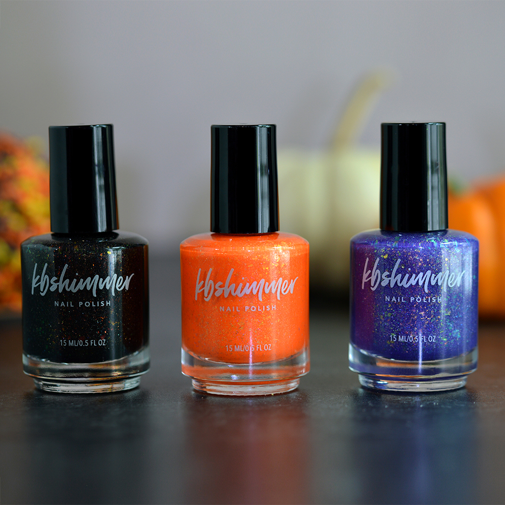 Kb Shimmer Halloween 2020 2020 Halloween Nail Polish Trio w/Witch Magnet