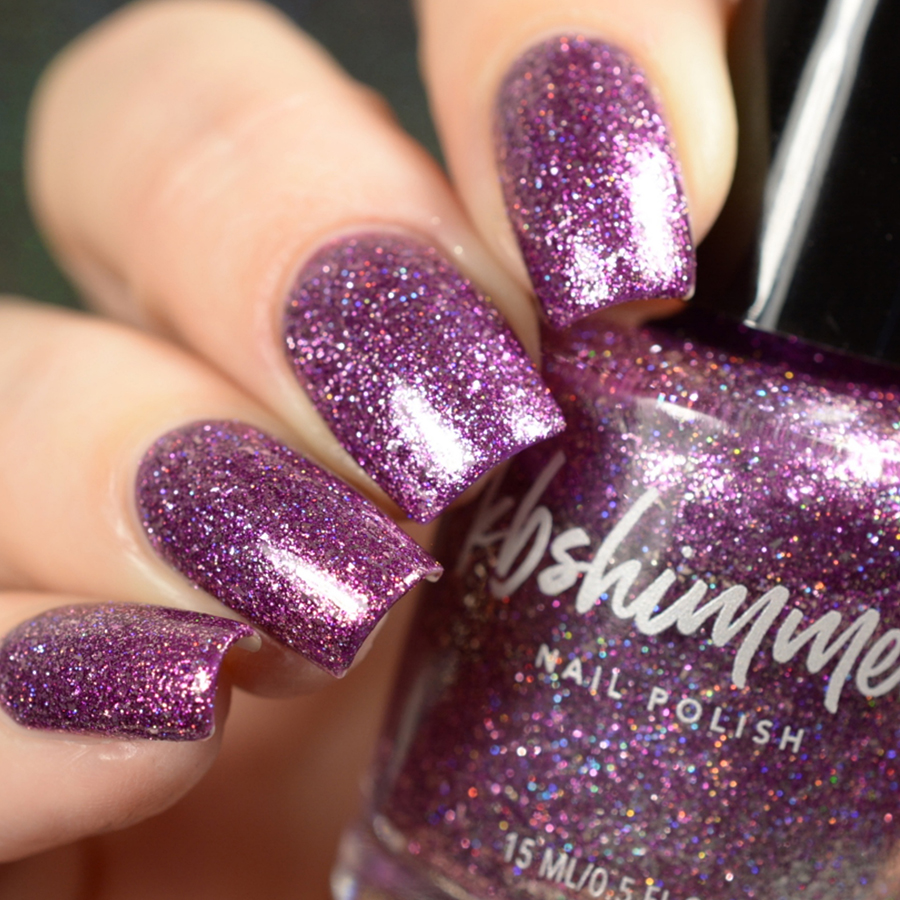 Shimmer And Sparkle Nail Polish: KBShimmer Amethyst Birthstone Metallic Glitter Nail Polish