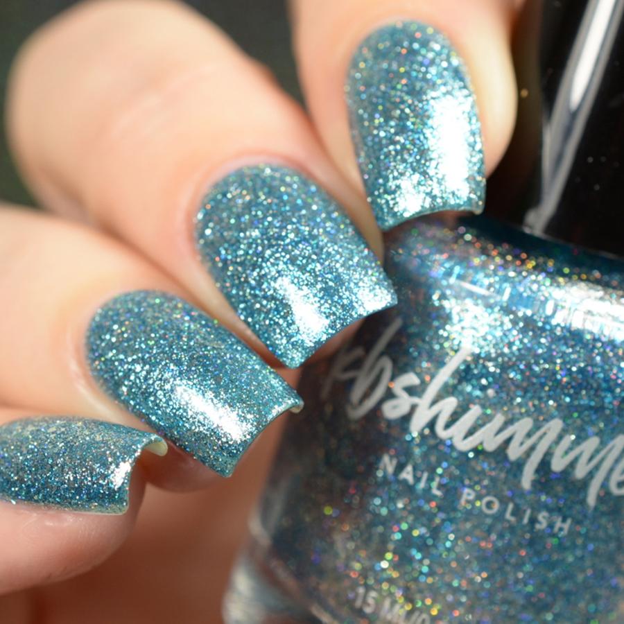 KBShimmer Blue Topaz Metallic Flakie Nail Polish