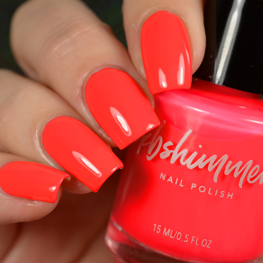KBShimmer Color Me Rad Neon Red Cream Nail Polish