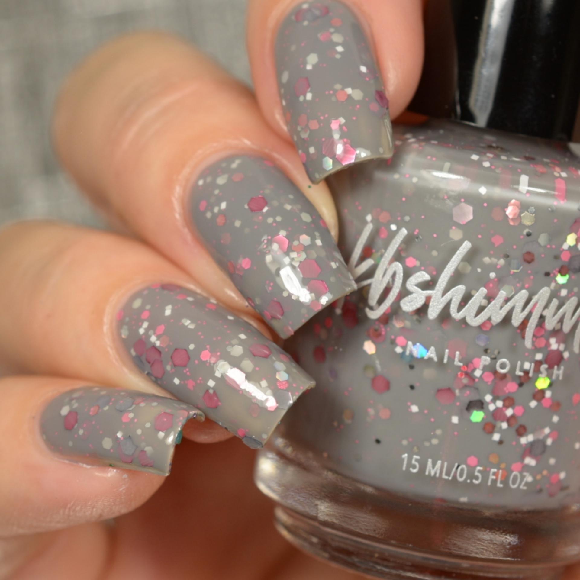 KBShimmer Elle Gray Crelly Glitter Nail Polish