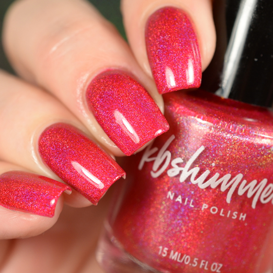 KBShimmer Get To The Poinsettia Holographic Nail Polish