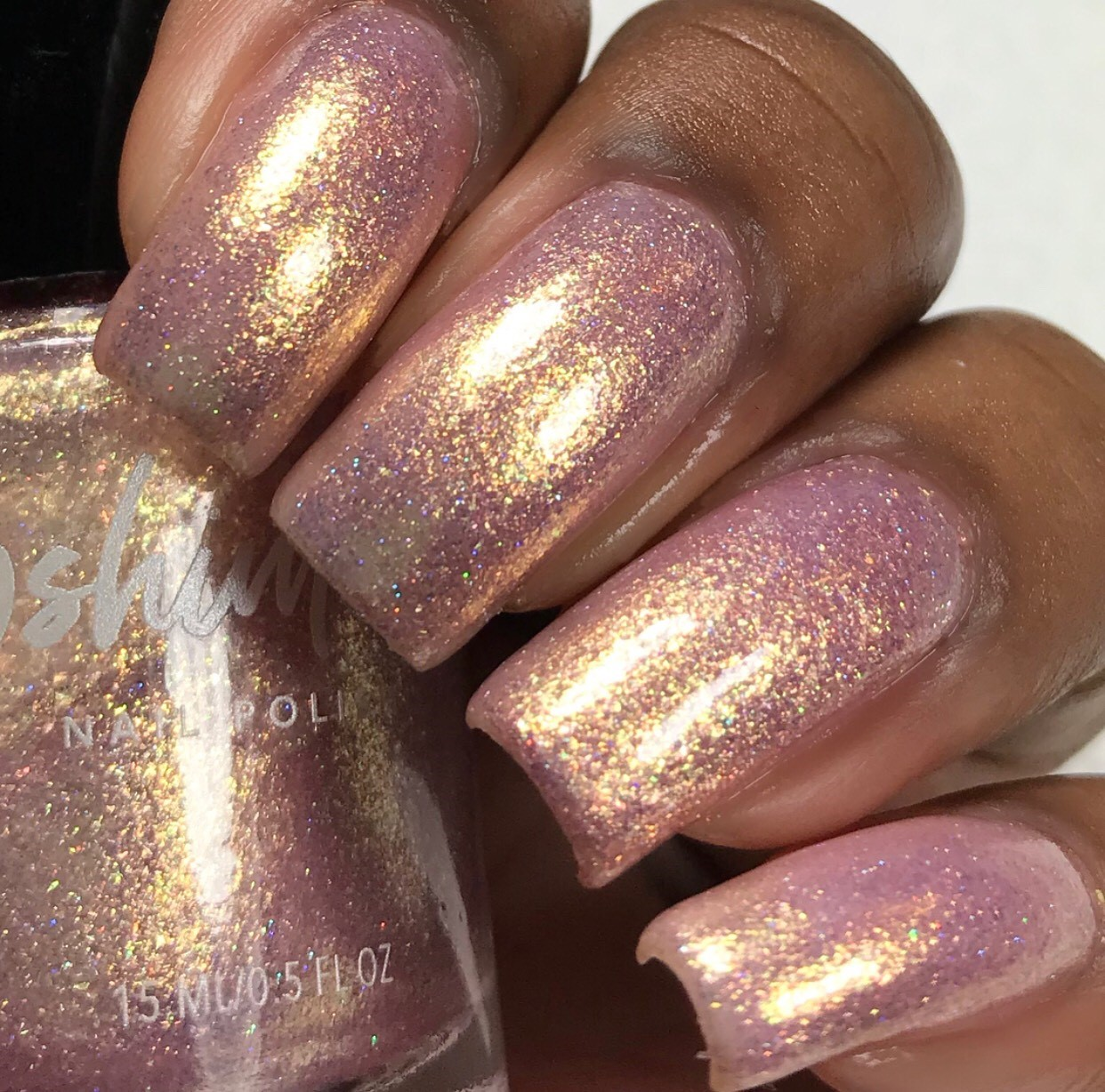 Hakuna Moscato Nail Polish Pale Pink And Gold Shimmer Nail