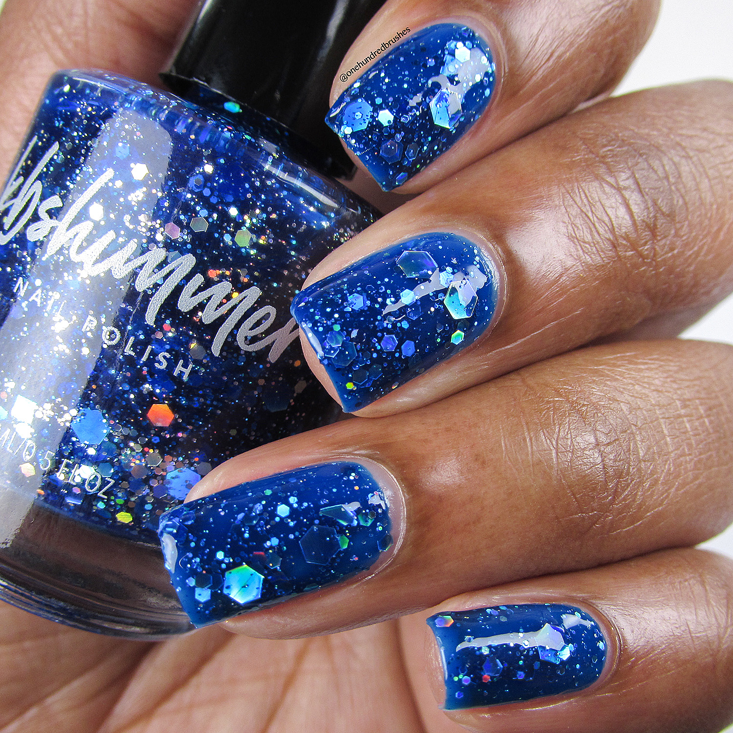KBShimmer I Got A Crush On Blue Jelly Nail Polish