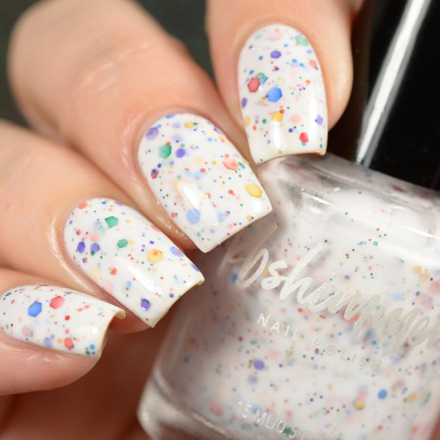 KBShimmer Oh SplatR White Crelly Glitter Nail Polish
