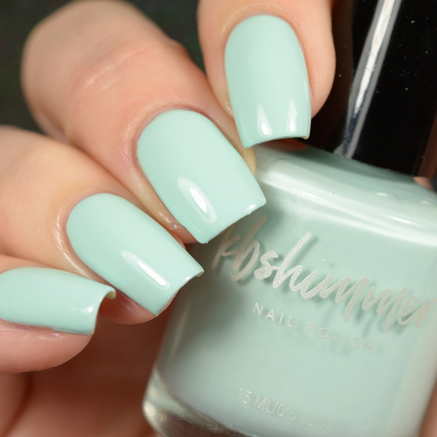 KBShimmer Playing With The Buoys Mint Green Cream Nail Polish