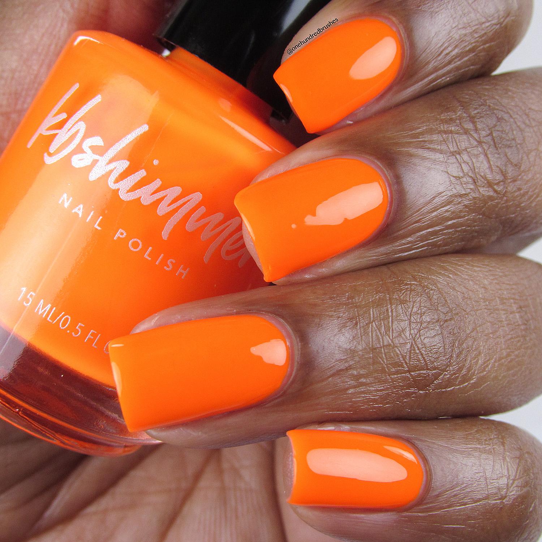 Orange Nail Polish Nz: KBShimmer Please Don't Glow Girl Neon Orange Cream Nail Polish