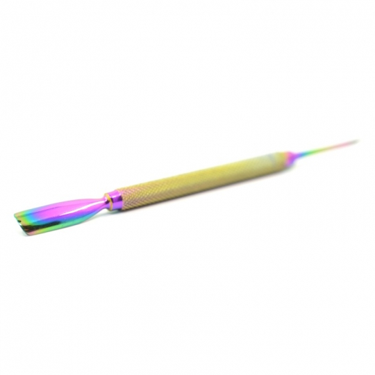 Rainbow Finish Dual Ended Cuticle Pusher