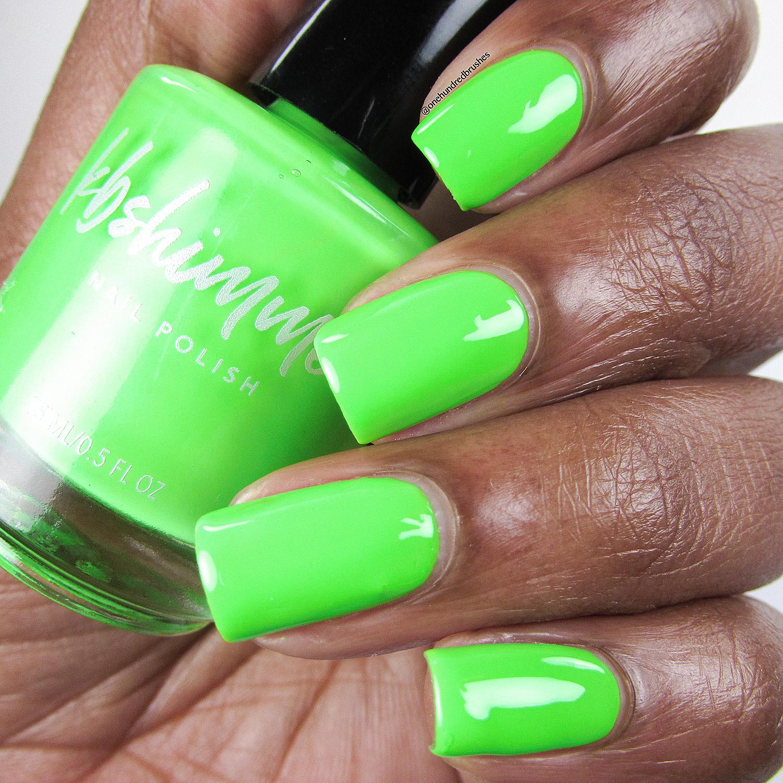 KBShimmer Race Against Slime Neon Green Cream Nail Polish
