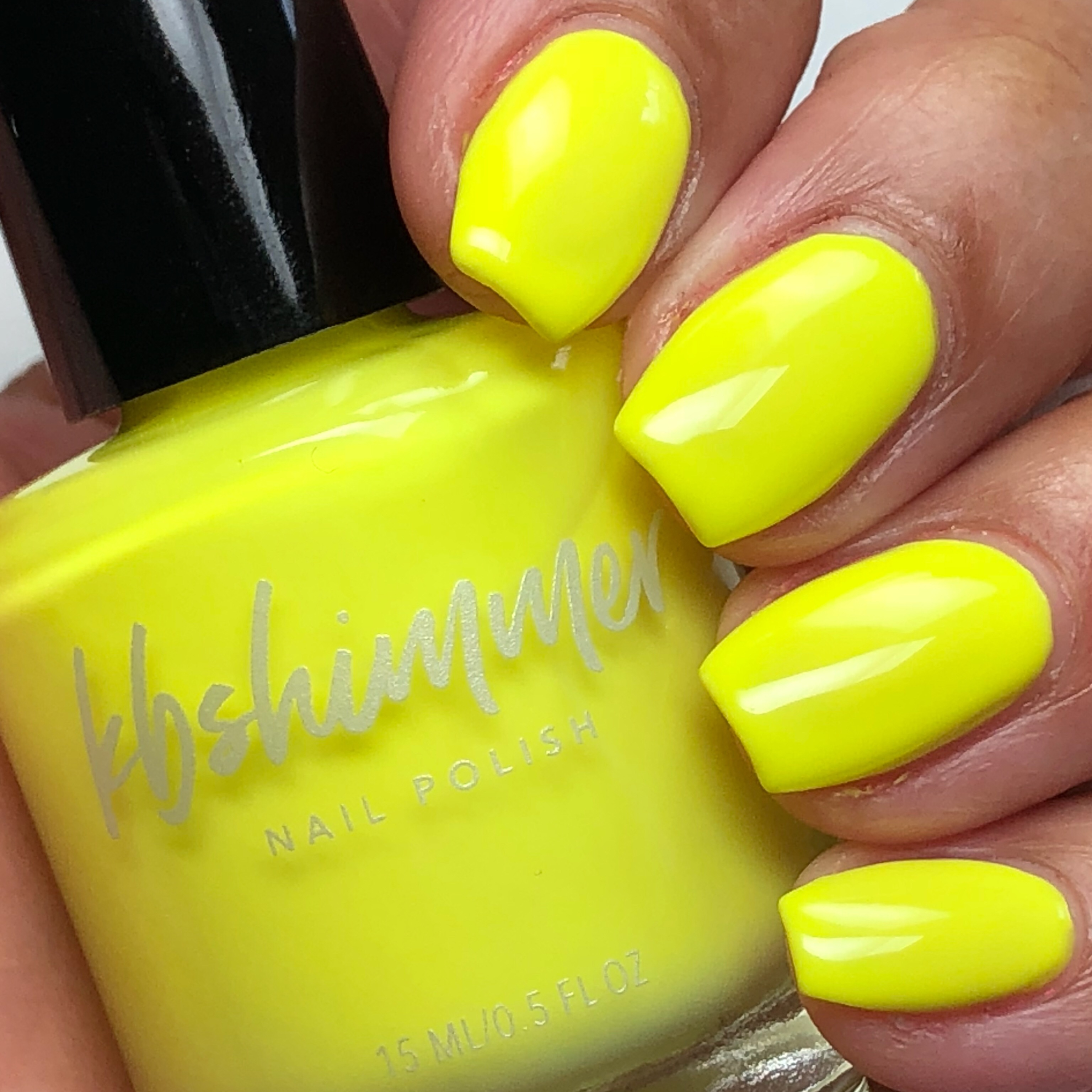 Kbshimmer Color All The Bright Moves Yellow Cream Nail Polish