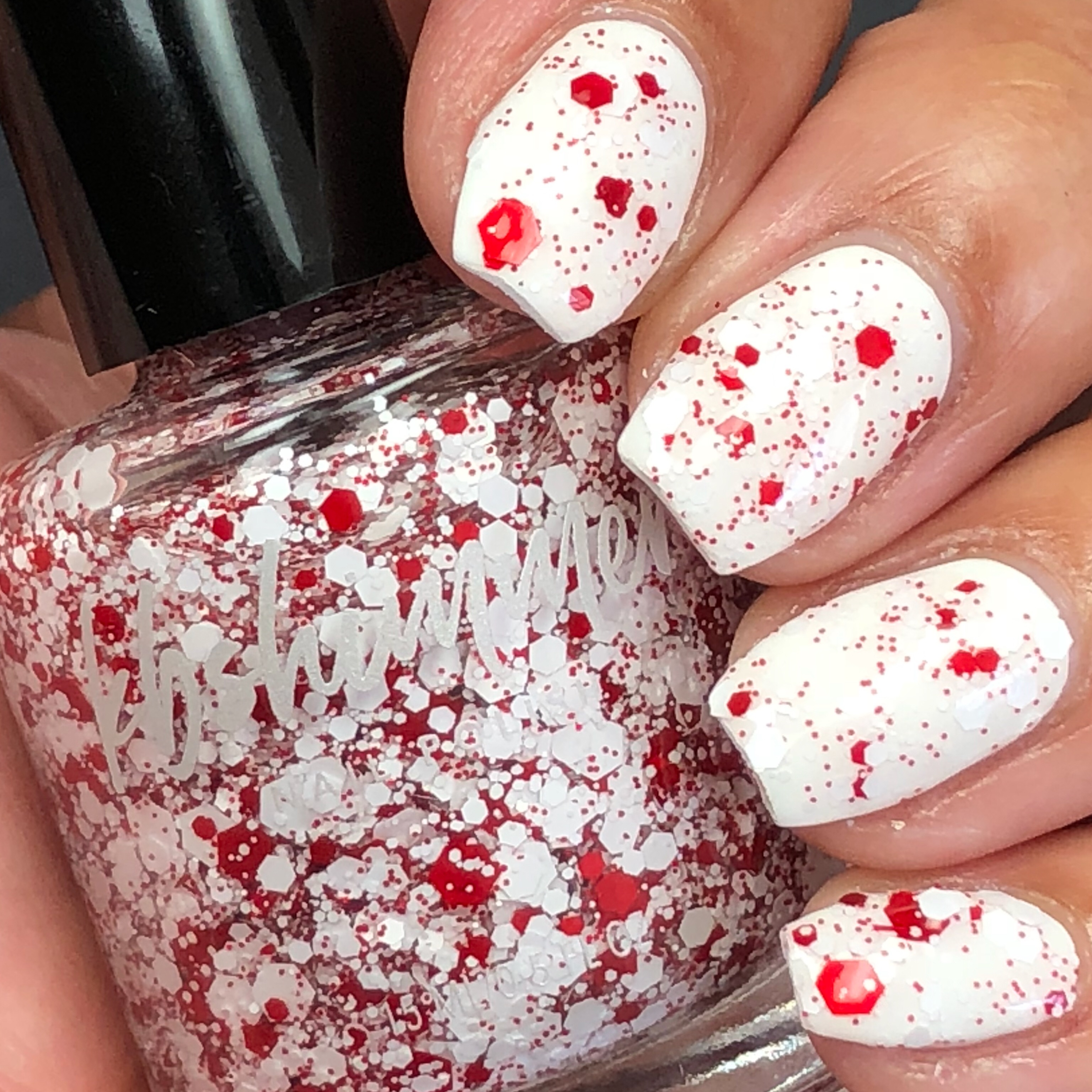 Candy Cane Crush Glitter Polish Top Coat