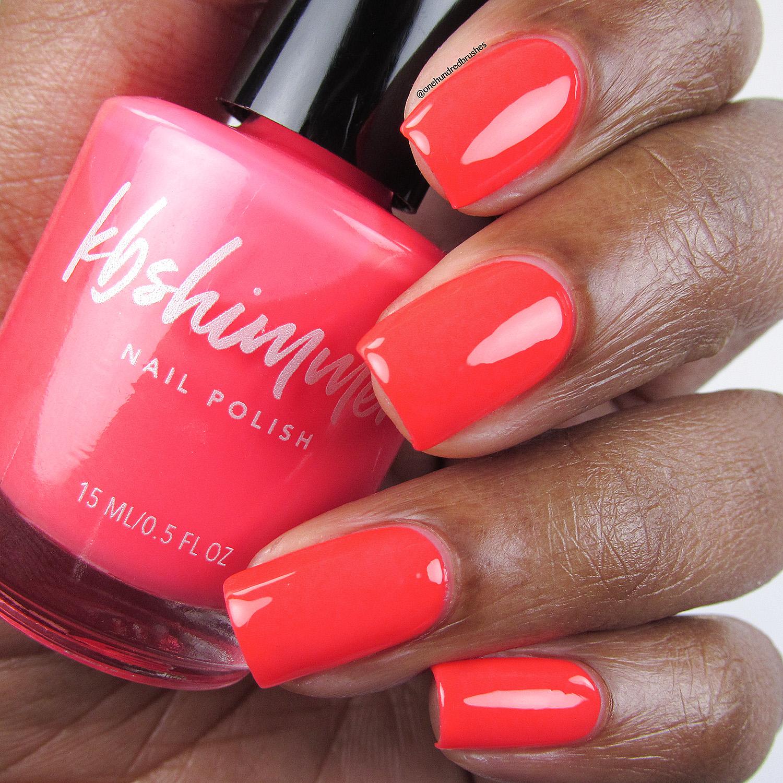 KBShimmer Color Me Rad Neon Red Cream Nail Polish