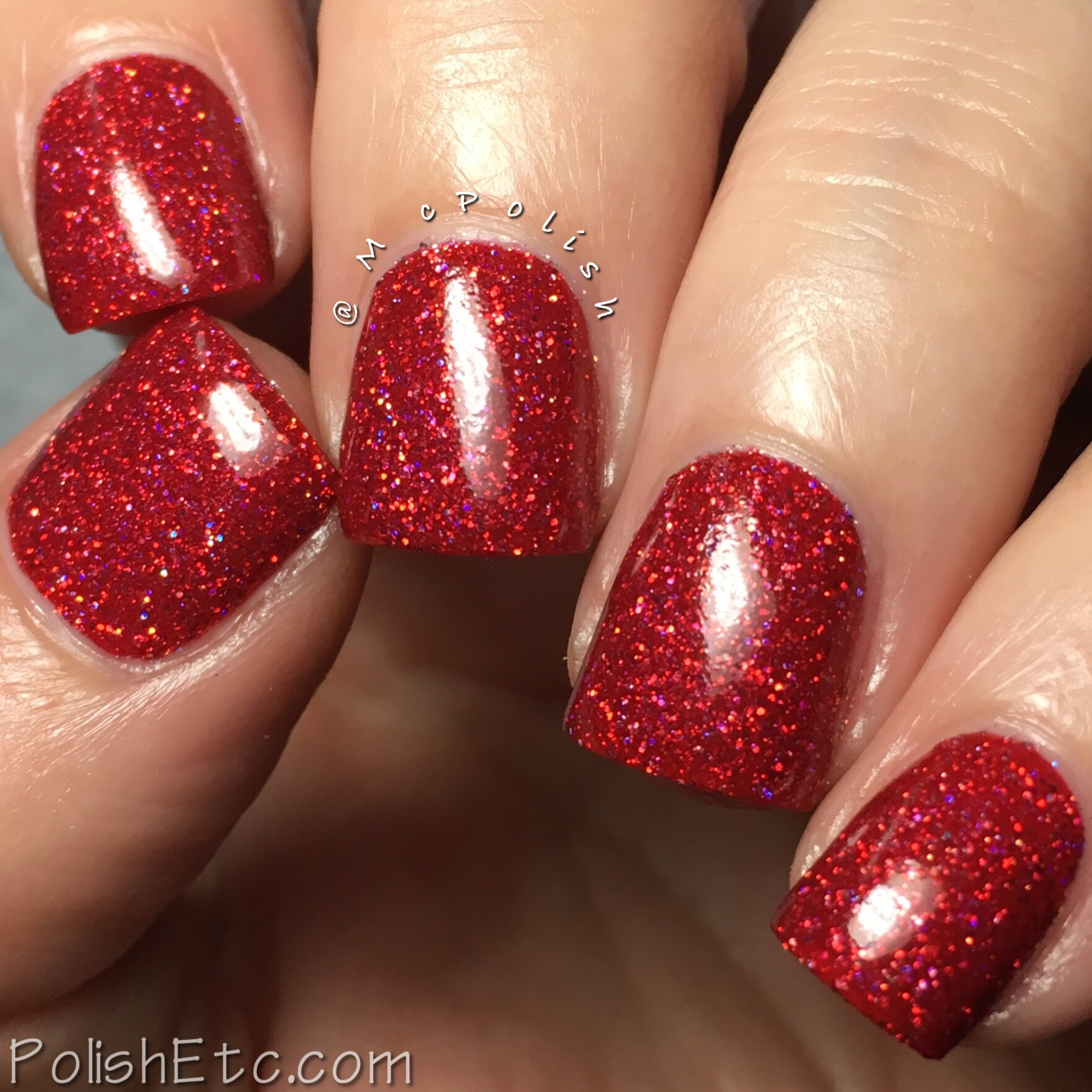 KBShimmer Deck The Claws Red Holographic Glitter Nail Polish