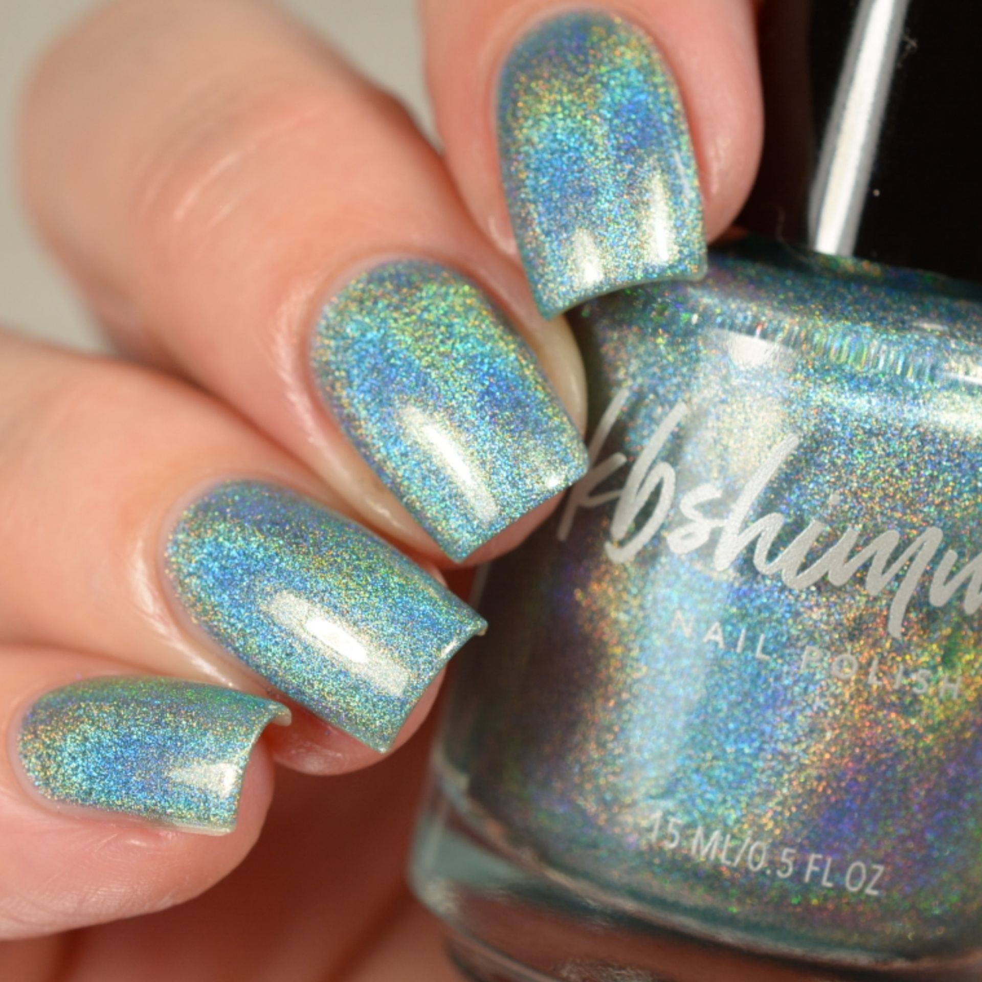 Don\'t Fear The Reefer Mint Green Linear Holographic Nail Polish