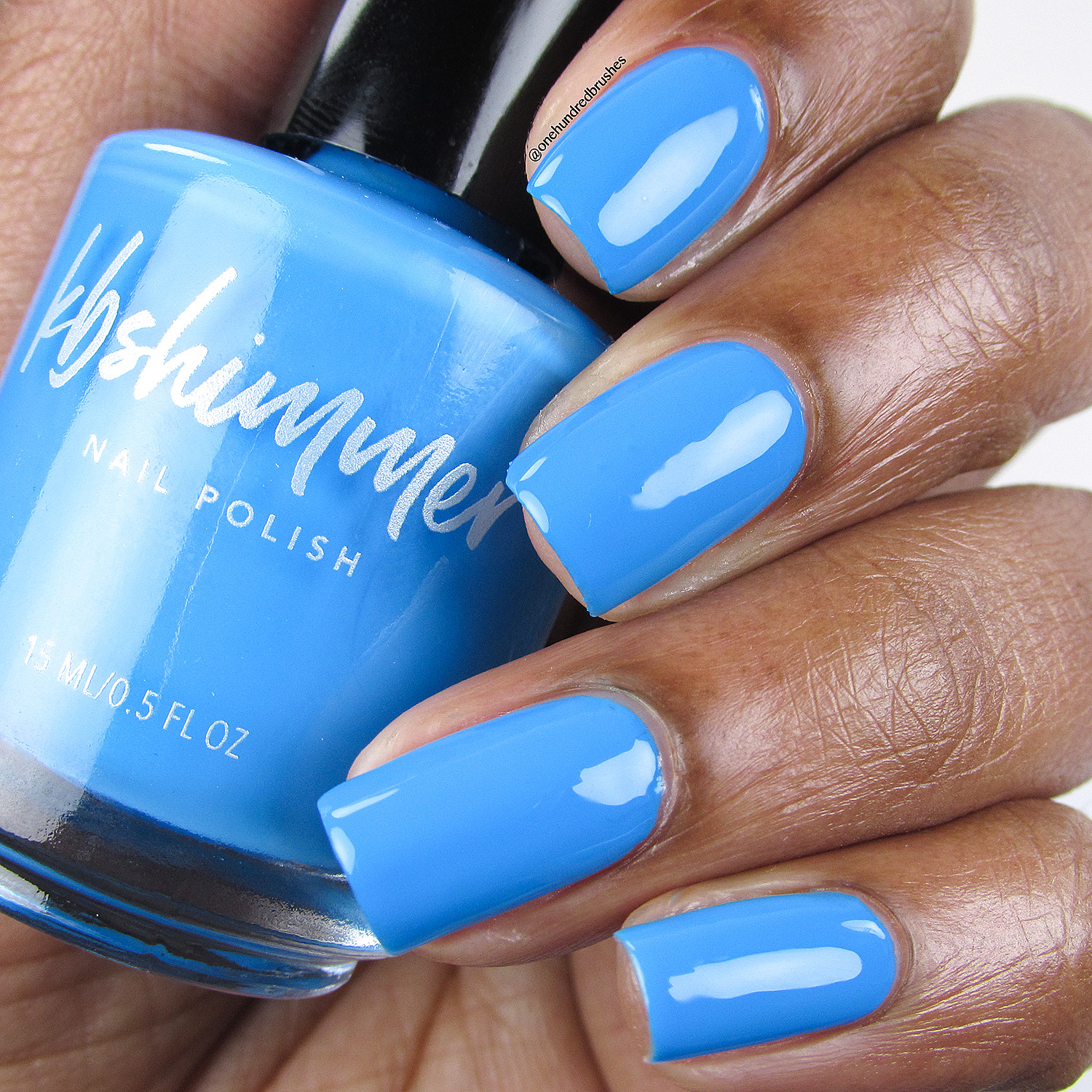 KBShimmer Double Pog Dare You Neon Blue Nail Polish