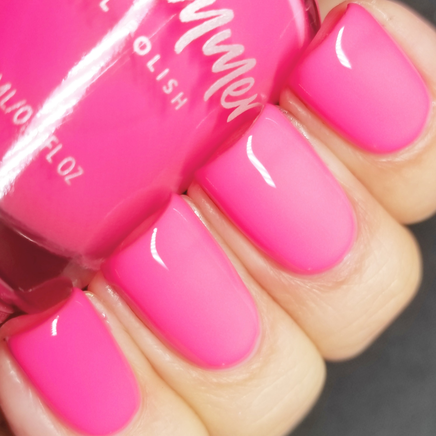 KBShimmer How Low Can You Flamingo Hot Pink Cream Nail Polish