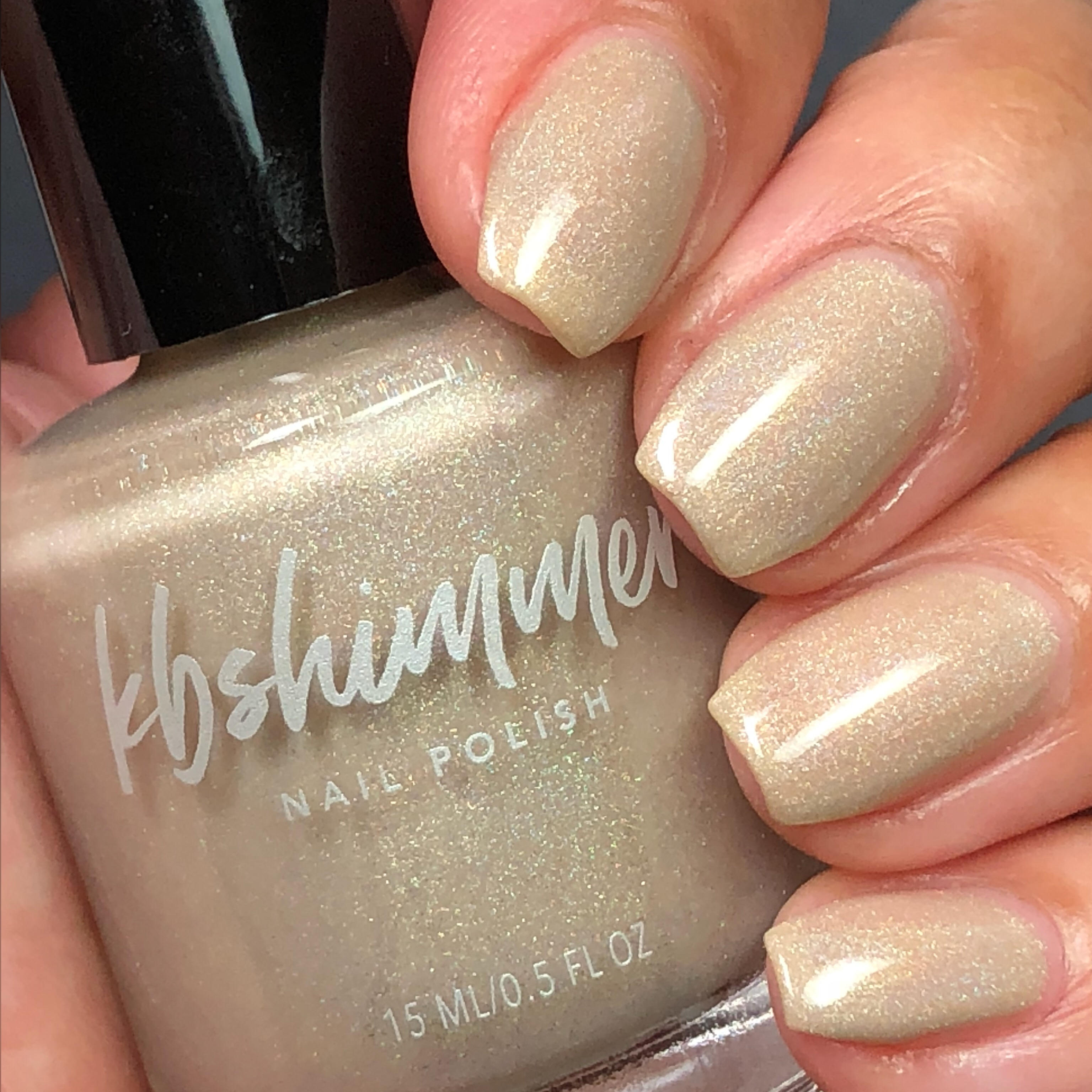 KBShimmer In Bare Form Holographic Nail Polish