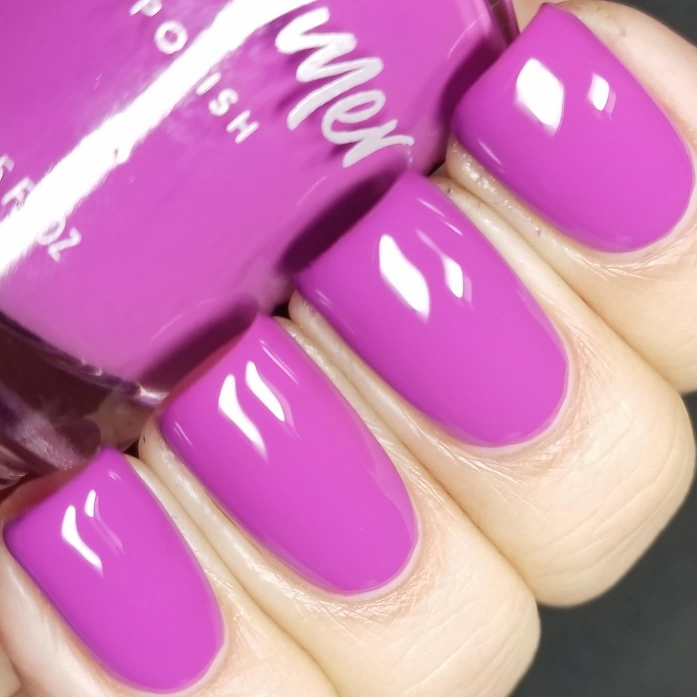 KBShimmer Let\'s Be Frank Neon Violet Purple Nail Polish