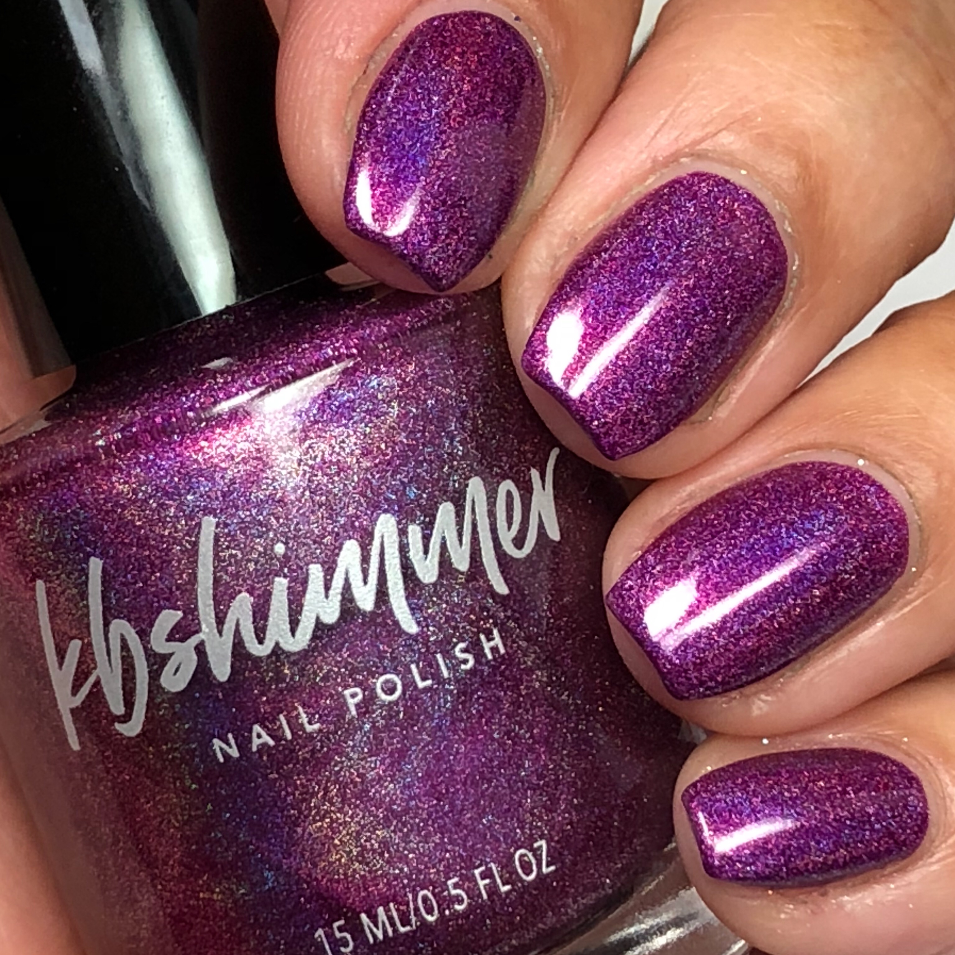 Orchidding Me? Holographic Nail Polish by KBShimmer