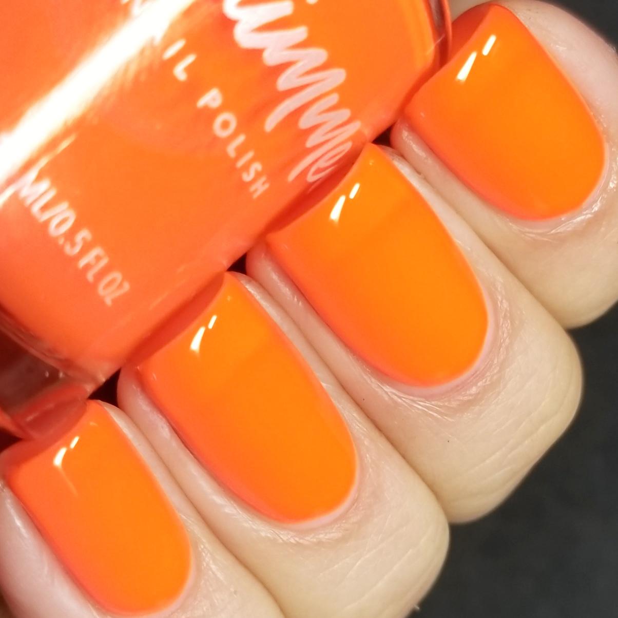 KBShimmer Please Don\'t Glow Girl Neon Orange Cream Nail Polish