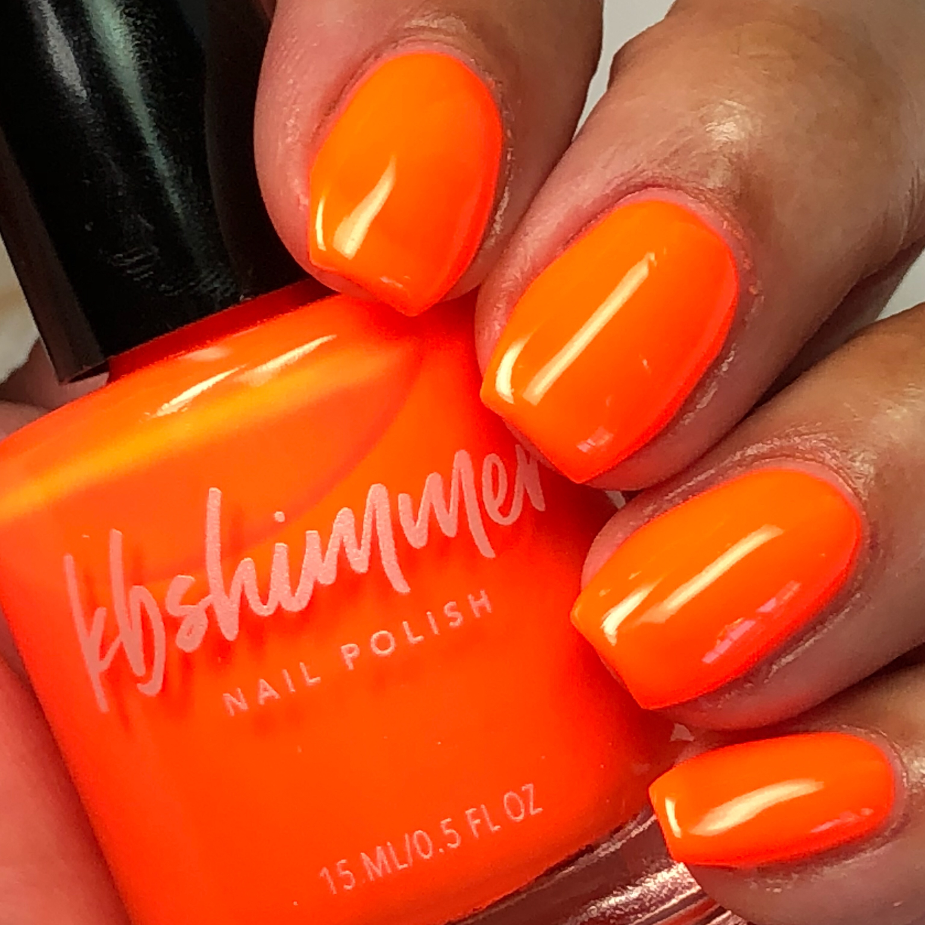 KBShimmer Please Don\'t Glow Girl Neon Orange Cream Nail Polish
