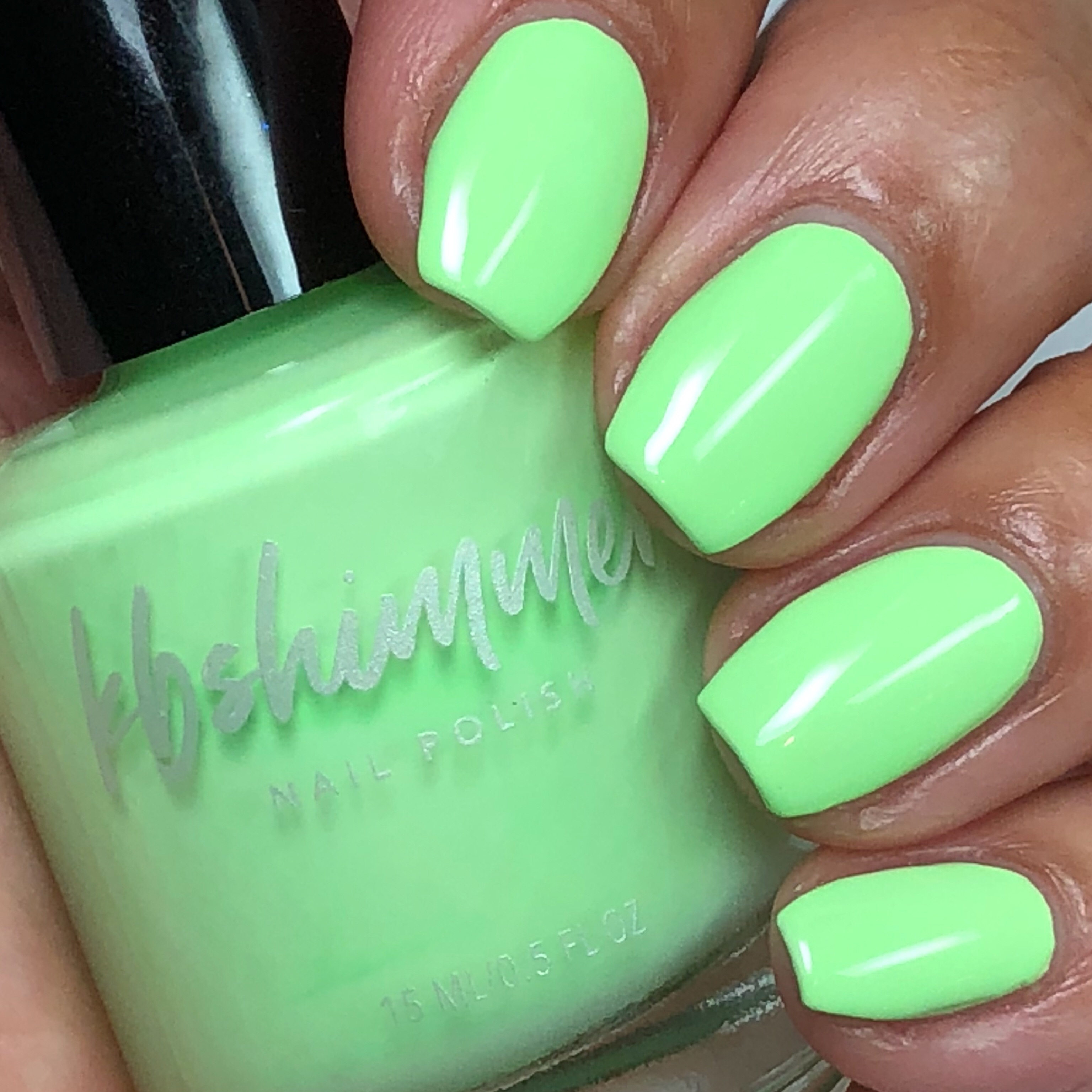 KBShimmer Ready For A Good Lime Cream Nail Polish