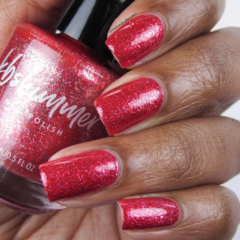 Ruby Nail Polish: KBShimmer Ruby Metallic Birthstone Nail Polish