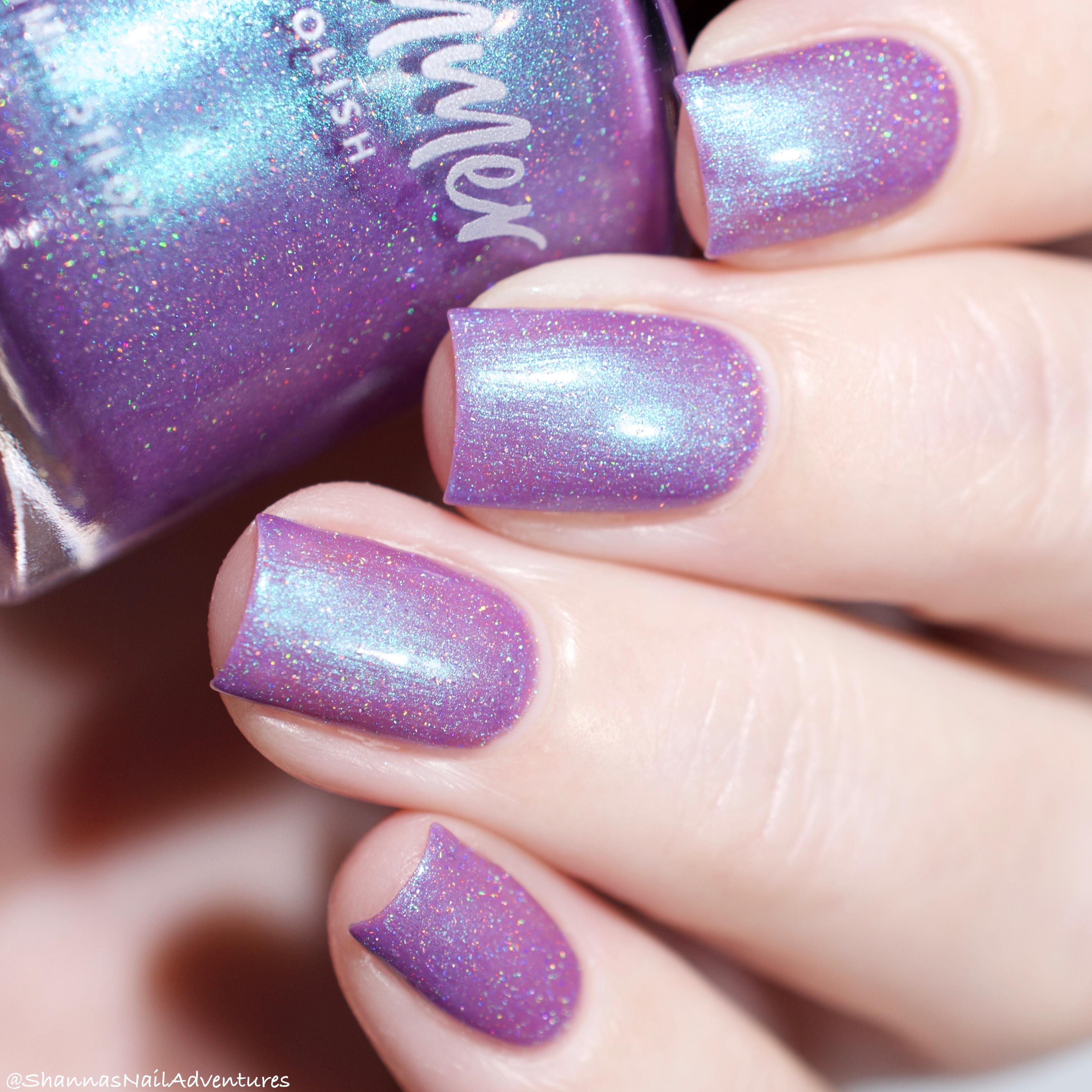 Succ It Up Purple Aqua Shimmer Nail Polish