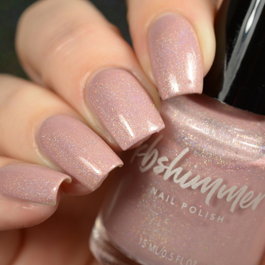 KBShimmer That\'s Nude To Me Holographic Shimmer Nail Polish
