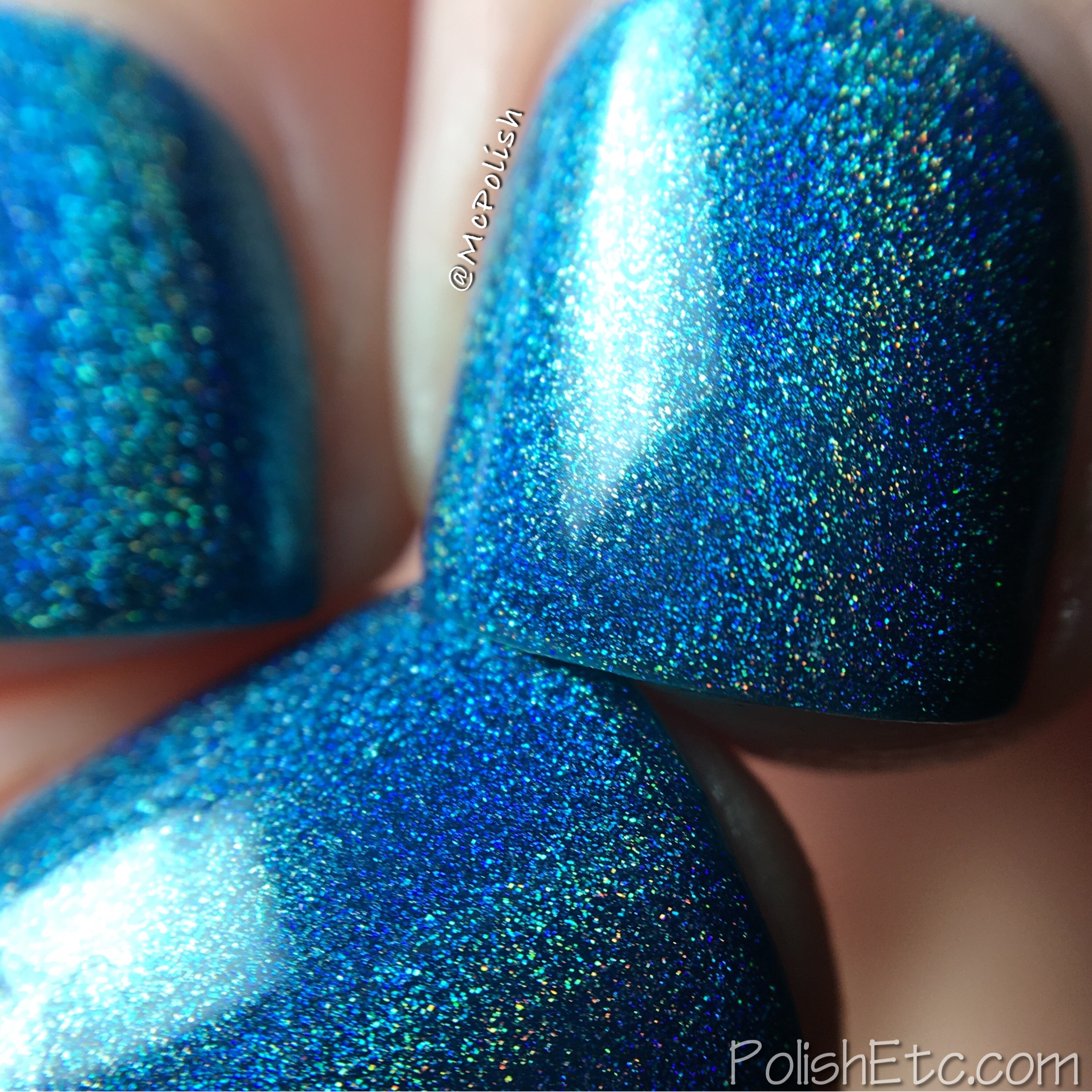 Tropic Like It\'s Hot Turquoise Teal Aqua Holographic Nail Polish