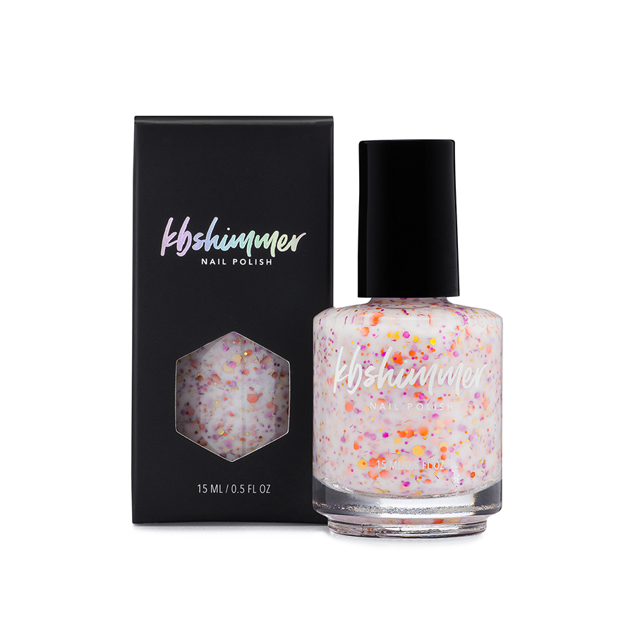 KBShimmer You Autumn Know White Crelly Glitter Polish