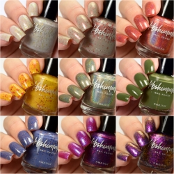 All The Fall Things 9 Piece Nail Polish Collection w/Fall Stickers