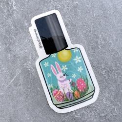 Easter Bunny Polish Bottle Sticker