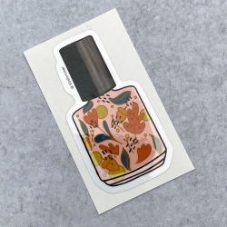 Fall Orange Leaves Bottle Sticker 2020