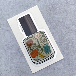 Fall Sage Pumpkin Bottle Sticker 2020