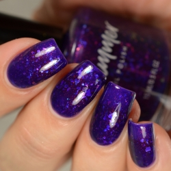 Hard To Empress Unicorn Pee Flakie Nail Polish (Limited Edition)