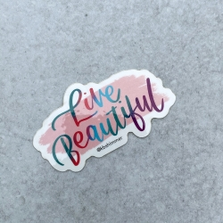 Live Beautiful Sticker 2020
