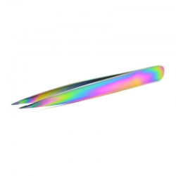 Rainbow Finish Pointed Tip Tweezers