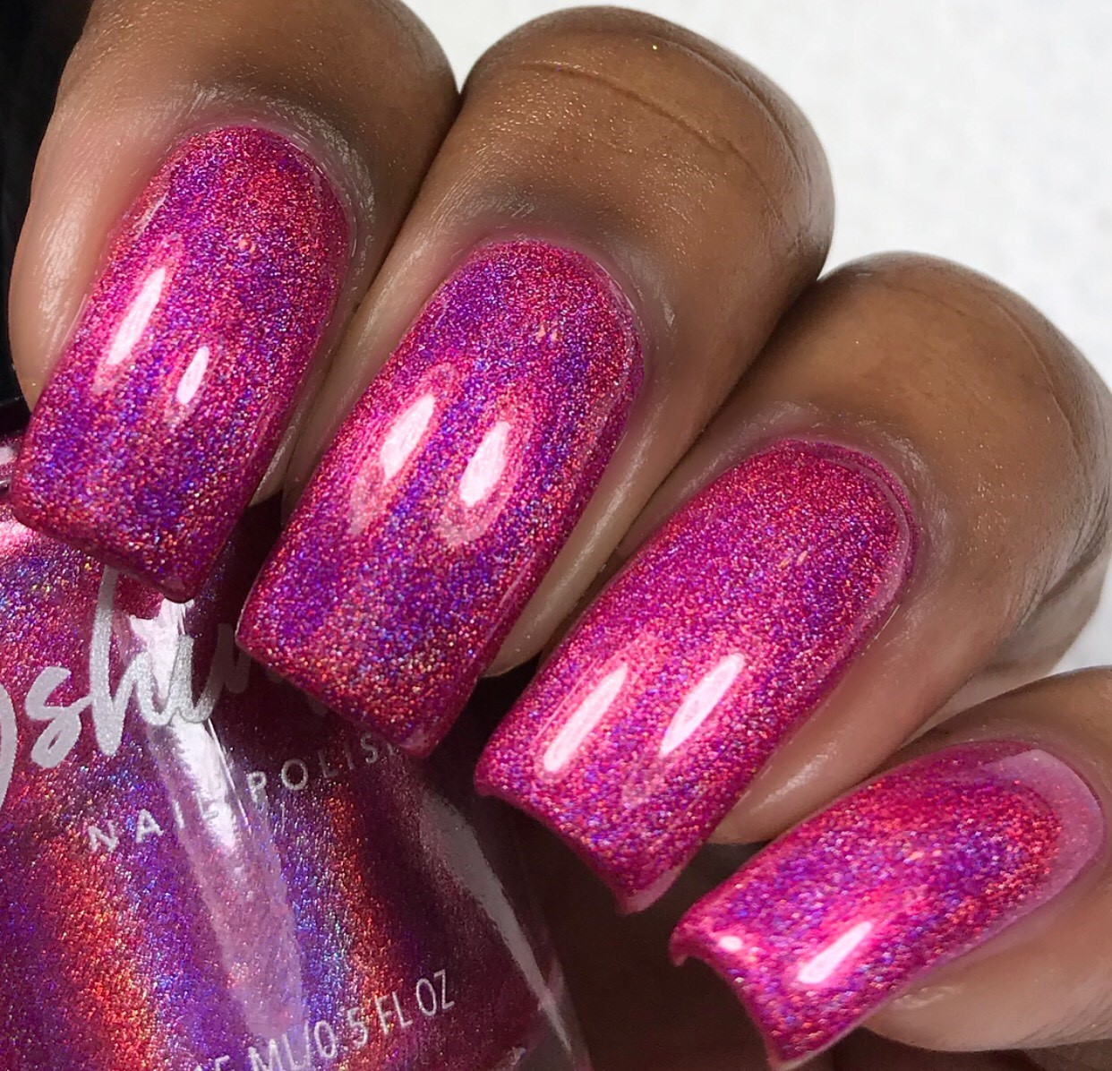 Wander-ful World Pink Linear Holographic Nail Polish