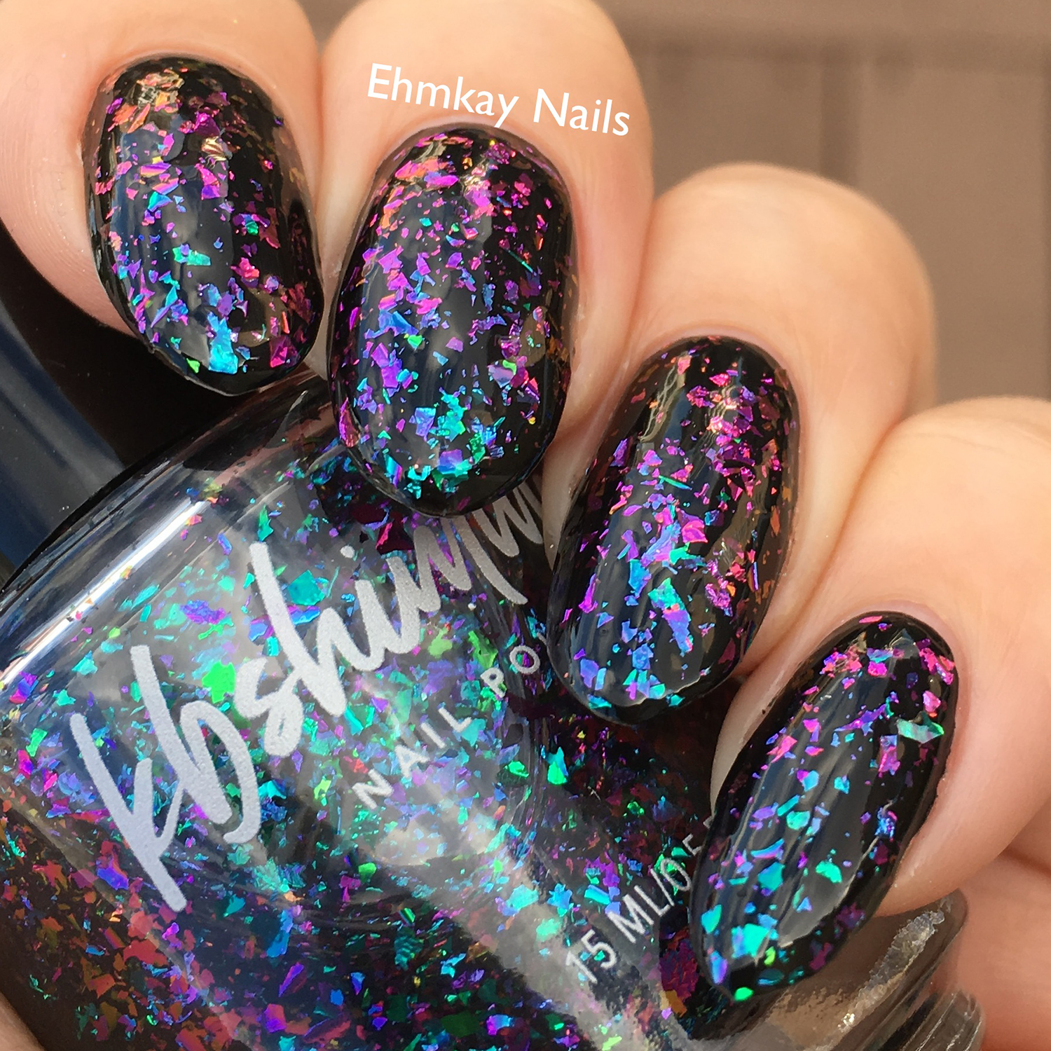 Yes Weekend Multichrome Flake Nail Polish Top Coat By Kbshimmer